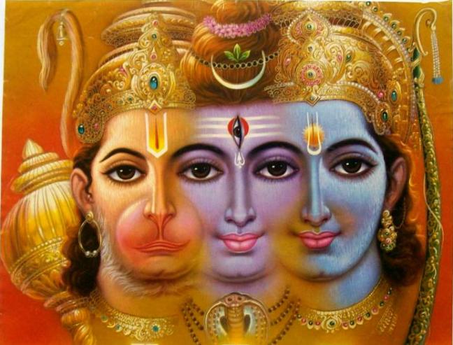 Rama-Shiva-Hanuman